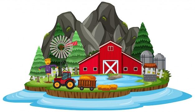 Fazenda isolada na ilha