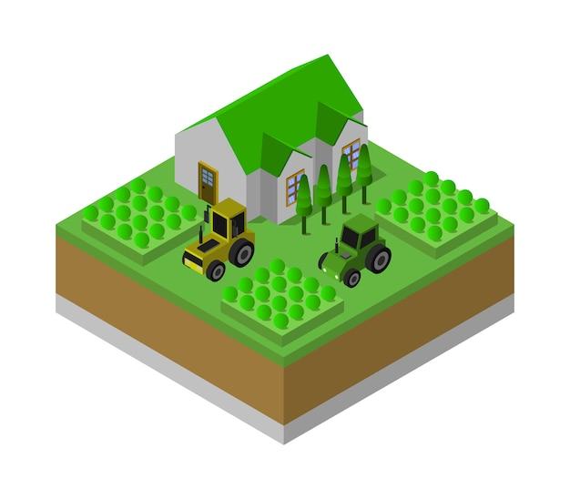 Fazenda isométrica