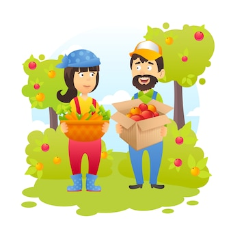 Fazendeiros no jardim