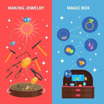 Fazendo conjunto de banners de jóias