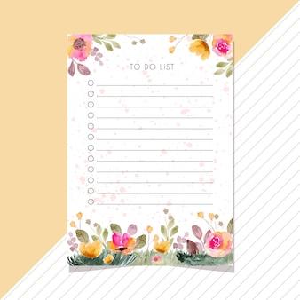 Fazer lista de cartão com flores
