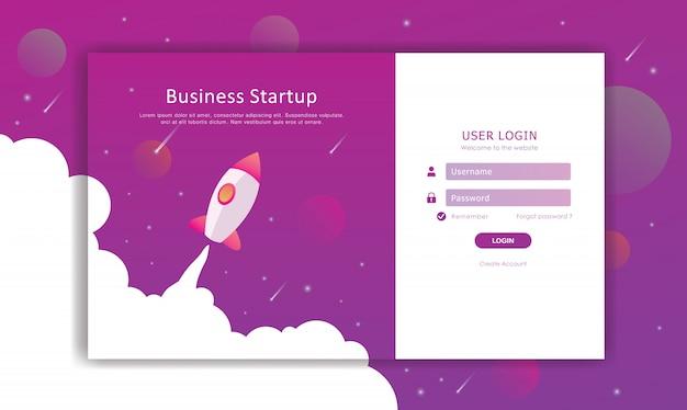 Fazer login no design da página