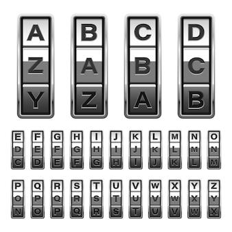 Fechadura de combinação design ilustração isolada no fundo branco