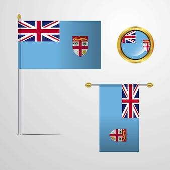 Federação da Bósnia e Herzegovina, acenando a bandeira
