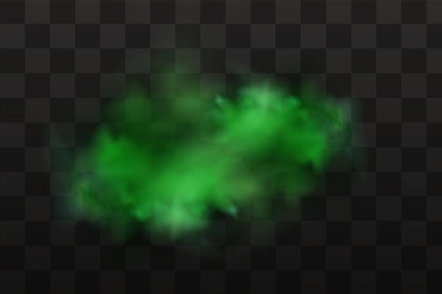 Fedor verde, mau cheiro, fumaça ou gases venenosos