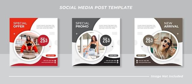 Feed de mídia social instagram pós venda de moda