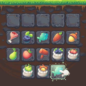 Feed the fox gui match 3 game items