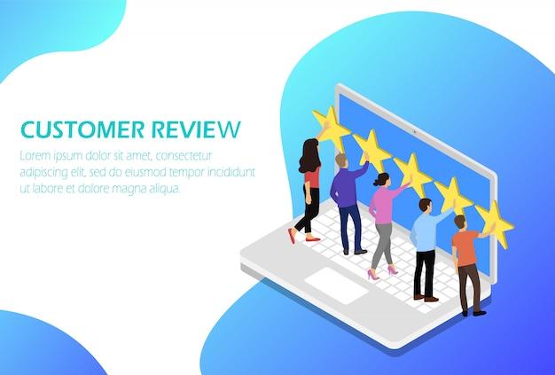 Feedback do cliente. comentários. classificação de estrelas.