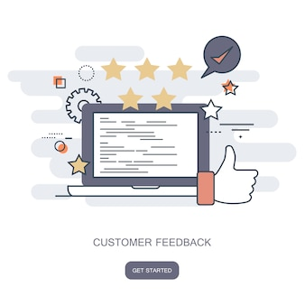Feedback e revisão de classificação do site