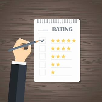 Feedback e revisão do rating do site
