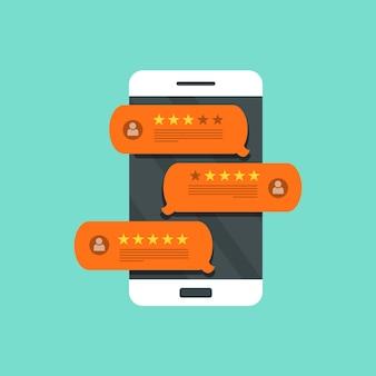 Feedback, mensagens de depoimentos e notificações