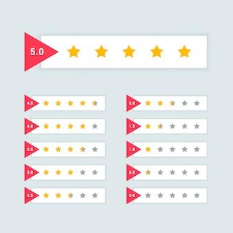 Feedback ou design de símbolo mínimo de classificação por estrelas