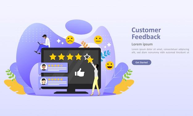Feedback review concept design ilustração vetorial