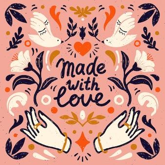 Feito com amor, composição simétrica