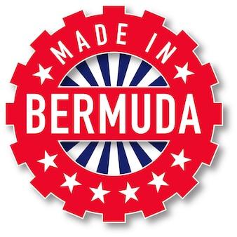 Feito em carimbo da cor da bandeira das bermudas. ilustração vetorial