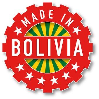 Feito em carimbo de cor de bandeira da bolívia. ilustração vetorial