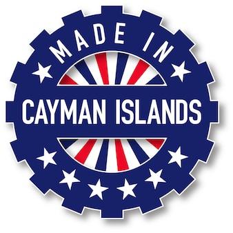 Feito em carimbo de cor de bandeira das ilhas cayman. ilustração vetorial