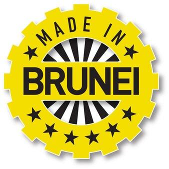 Feito em carimbo de cor de bandeira de brunei. ilustração vetorial