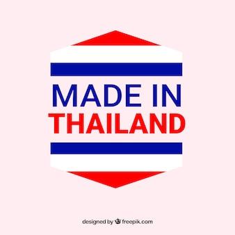 Feito na etiqueta da tailândia