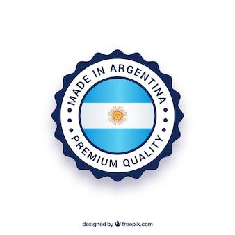 Feito no rótulo argentina