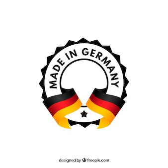 Feito no rótulo da alemanha