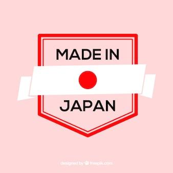 Feito no rótulo do japão