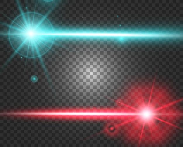 Feixe de laser abstrato. transparente em fundo preto. ilustração.