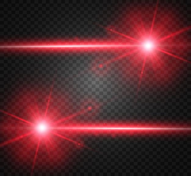 Feixe de laser abstrato. transparente isolado em fundo preto. ilustração.