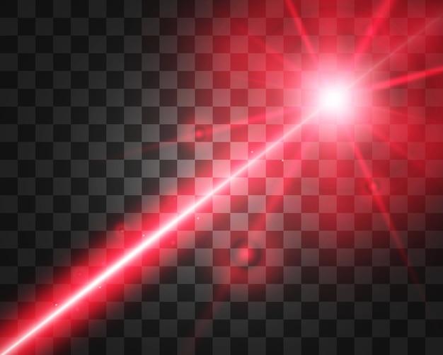 Feixe de laser abstrato. transparente isolado em fundo preto.