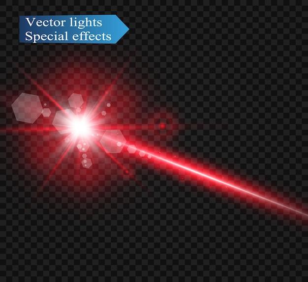 Feixe de laser abstrato. transparente isolado.