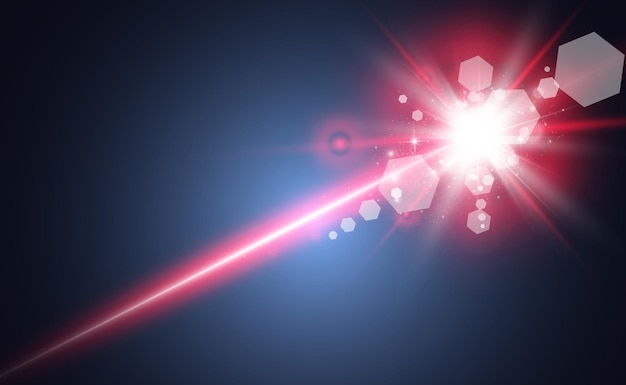 Feixe de laser abstrato.