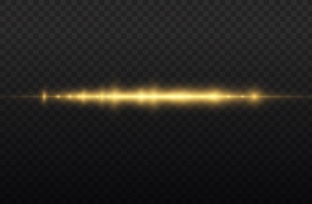 Feixe de laser horizontal