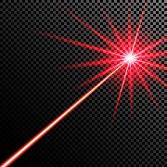 Feixe de laser vermelho.