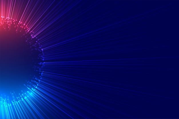 Feixe de luz explodindo tecnologia