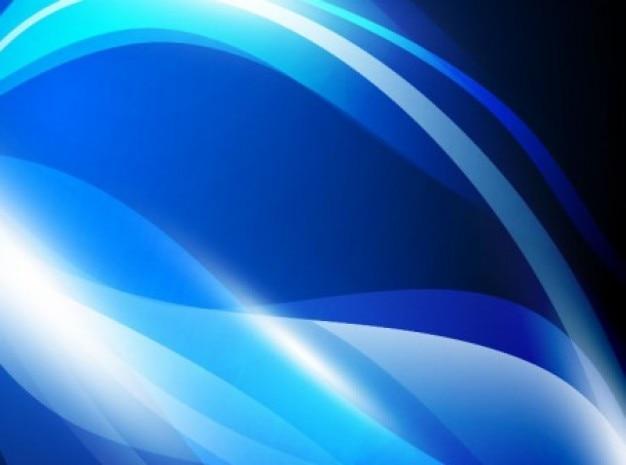 Feixes de azul-celeste fundo preto em forma de onda