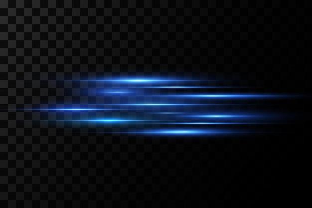 Feixes de laser abstratos de luz. raios de luz neon caóticos.