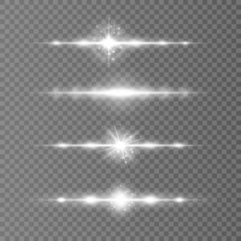 Feixes de laser raios de luz horizontais