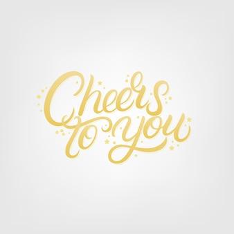 Felicidades para você mão escrita letras.