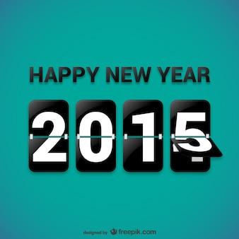 Feliz 2015 vector livre