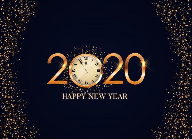 Feliz 2020 ano novo cartão