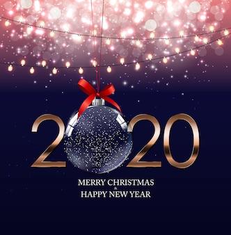 Feliz 2020 ano novo fundo