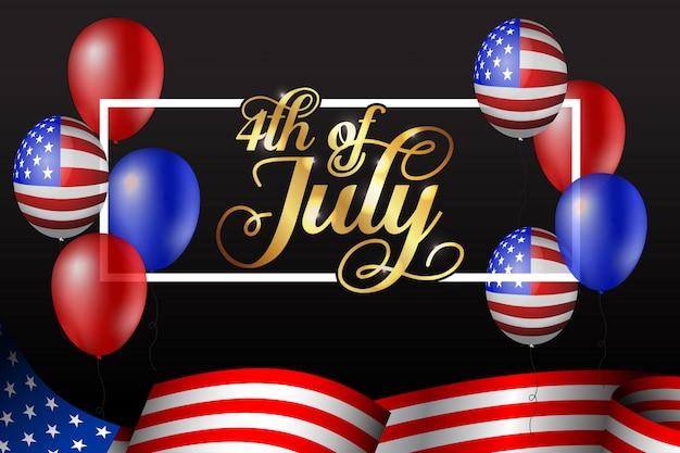 Feliz 4 de ilustração de julho