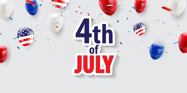 Feliz 4 de julho feriado.