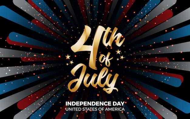 Feliz 4o dia de independência de julho da ilustração américa
