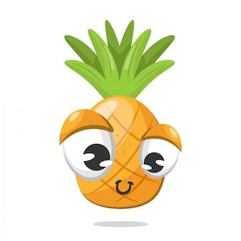 Feliz, abacaxi, fundo