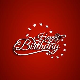Feliz aniversário backgound vermelho