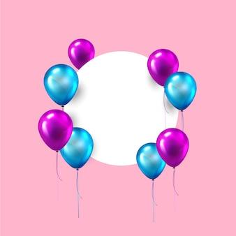 Feliz aniversário balões fundo