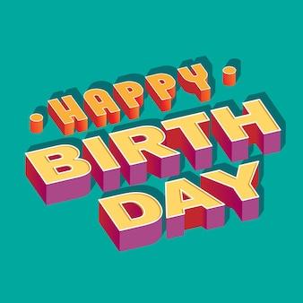 Feliz aniversário banner 3d