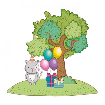 Feliz aniversário bonito animal