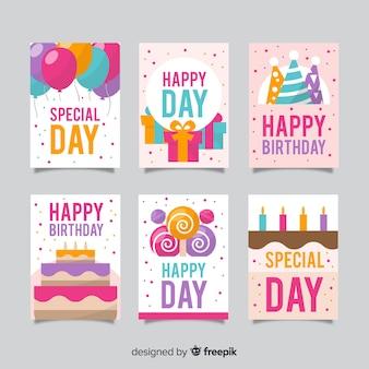 Feliz aniversário, cartão, cobrança